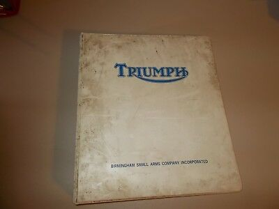 Triumph Motorcycle Factory Parts Price List 1970
