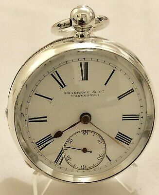Nice C1890 Solid Silver Skarratt & Co Worcester Fusee Pocket Watch