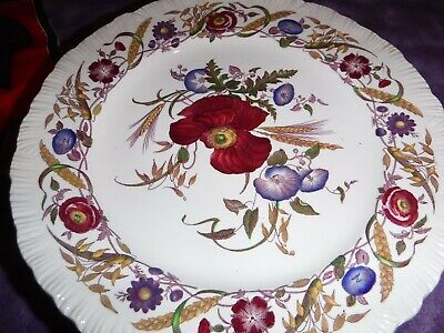 Eight  91/2   Wedgwood Cornflower Plates - Shelledge, Multicolor Floral