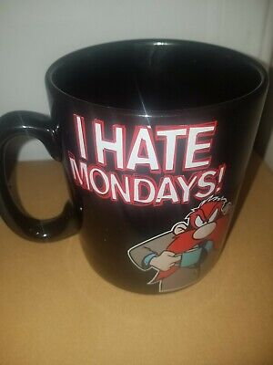 LOONEY TUNES Vintage 1994 I HATE MONDAYS Warner Bros Large Oversized Coffee Mug