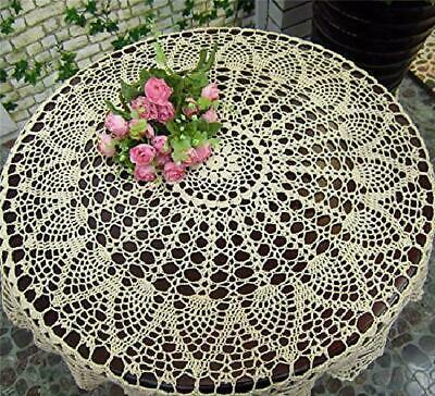 Handmade Round Lace Crochet Tablecloth Table Mat Table Doilies Table Cover Doily