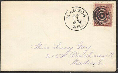USA 2c Washington on cover MADISON cds and fancy cancel.....................6767