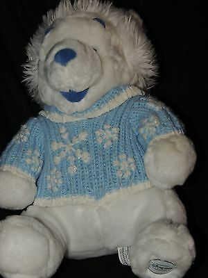 46ebb1a904c Disney Store Exclusive Winnie the Pooh Winter White Plush Bear with knit cap