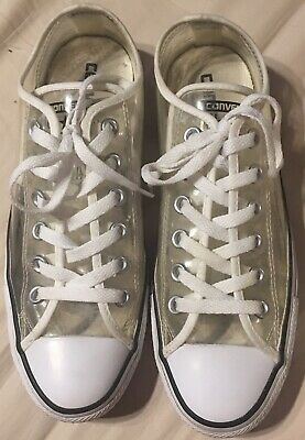 7f989f4d03c545 CONVERSE All Star Low Top Clear White Lace-Up Sneakers Chuck Taylor Unisex  M6