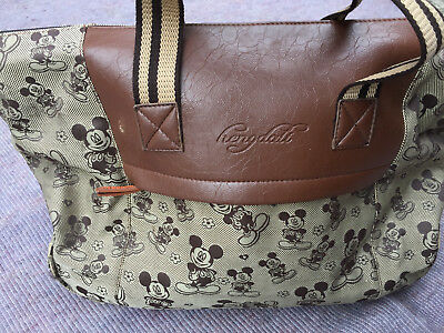 Vintage Mickey Mouse DUFFLE Travel BAG on Wheels by Hengdali