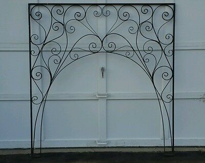 PUIL Archway Wrought Iron Door Archway Black Metal Heart Architectural Salvage