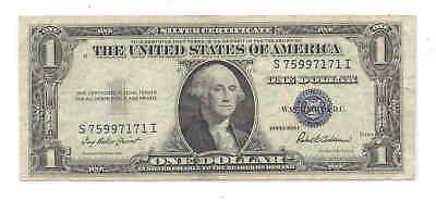 1935-F $1 Fr-1615 George Washington 7171 Blue Seal Silver Certificate Bank Note