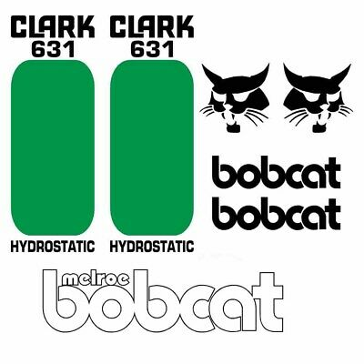 Bobcat 631 Decals Repro Aftermarket Decal Sticker kit