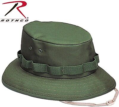 db7713a328c Kid s   Adults Olive Drab Green Military Style Boonie Hat Bucket Jungle ...