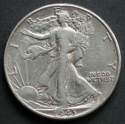 Moneta Coin United States America Half Dollar 1943 Walking Liberty Usa Silver #2