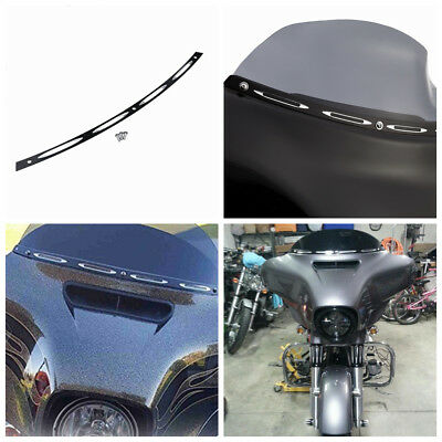 4 Slot Windshield Trim Batwing Fairing For 1996-2013 Harley Electra Street