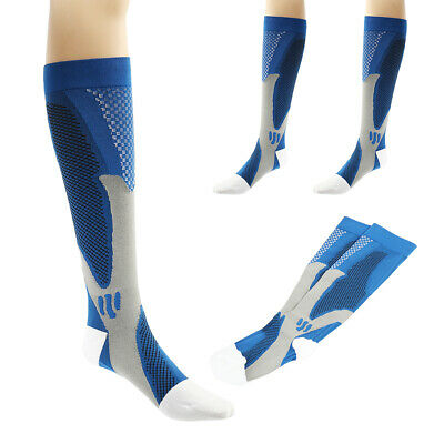 Bas Chaussettes Compression Football Sport Courses Gym Respirable Longues Hommes
