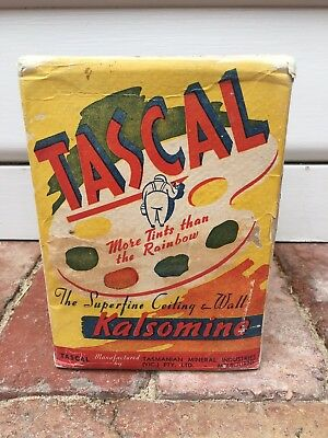 Tascal Kalsomine Paint Powder Old Box Not Paint Tin