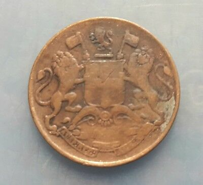 1835 British India Rare Quarter Anna Coin India East India Company Stunning Coin