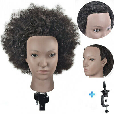 "Ersiman 10"" Afro Hairdressing Mannequin Head 100% Human Hair Cosmetology..."