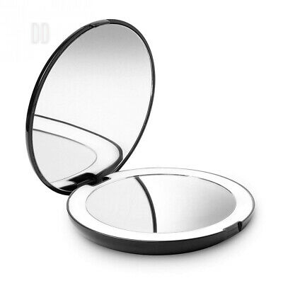 Fancii LED Lighted Travel Makeup Mirror, 1X/10X Magnification - Daylight...