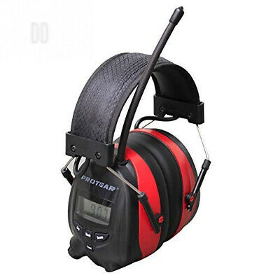 Rechargeable Ear Defenders with Bluetooth and FM/AM Radio, Protear Noise...