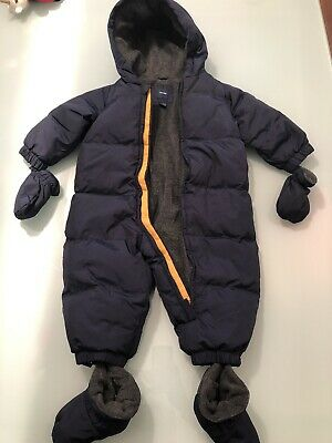 Baby Gap Snow Suit All In One Navy Blue 12-18mth