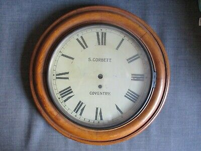 Antique Victorian Oak Dial Clock Face by S Corbett Coventry Collection only