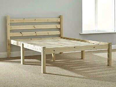 Small Double Pine Bed 4ft (129cm) Double Bed Wooden Frame with extra wide base s