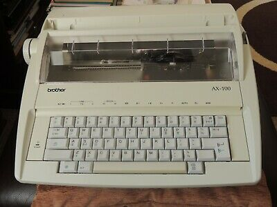 Typewriter Brother Ax100 Electric Cream Very Good Condition Works Perfectly