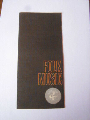 ELEKTRA RECORDS New York FOLK MUSIC 60er Jahre Faltblatt KATALOG