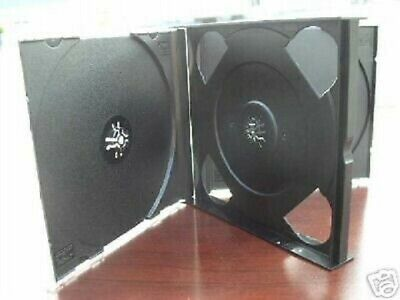10 New Triple 21Mm Chubby 3 Cd Jewel Cases With Black Tray 3Cd