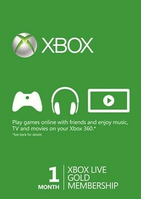 Microsoft Xbox Live Subscription 1 Month