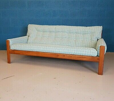 Retro Vintage Mid Century Studio Coach Three Seat Sofa 60s 70s - Restored