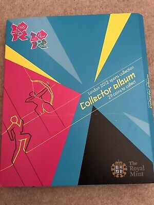 London Olympic 2012 50p's Full Set Uncirculated + Album + COMPLETER MEDALLION