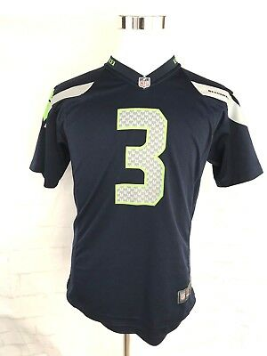Russell Wilson  3 Seattle Seahawks Nike Youth Size Large NFL Jersey Blue 99f47111a