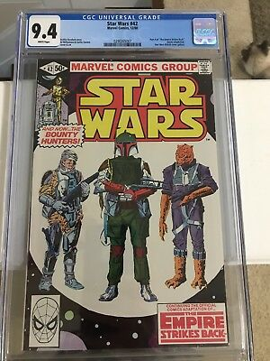 Star Wars 42 - CGC 9.4 (First Boba Fett) December 1980 WHITE PAGES