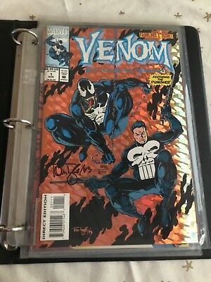 Venom: Funeral Pyre #1-#3 Collection. All Signed With Coa In Binder.
