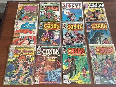 Vintage lot of  RED SONJA & CONAN COMIC BOOKS by Marvel! Bronze Age 118