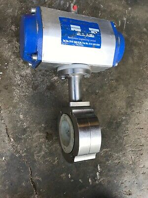 Baronshire motorised valve stainless steel butterfly Valve 50mm Bore Food Grade.