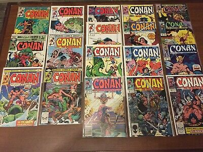Vintage lot of CONAN THE BARBARIAN COMIC BOOKS by Marvel! Bronze Age 129