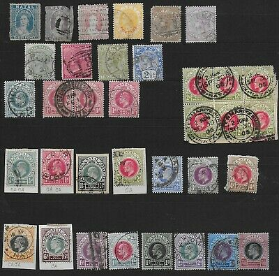 3700: Natal; selection of 34 stamps. South Africa. Victoria & Edward. 1863-1902