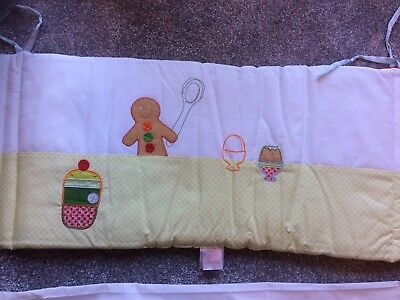 Lovely Bnwot Mamas And Papas Gingerbread Tab Top Curtains And Cot Bumper