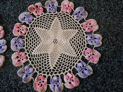 Beautiful Vintage Hand Crochet Table Mats
