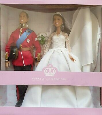 Prince William and Princess Catherine wedding Dolls from Arklu. Limited Edition