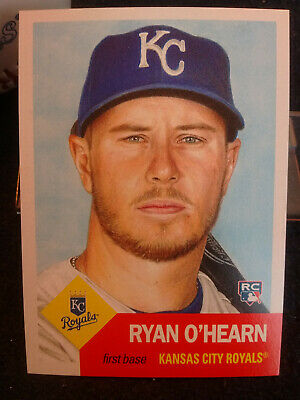 2018 Topps  LIVING SET KC Royals 1st Baseman Rookie Ryan O'Hearn On 1953 Retro