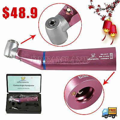 Inner Spray WY Dental Slow Speed Fiber Optic LED Contra angle Handpiece TdZ