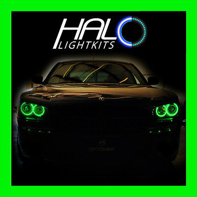 2006-2010 Dodge Charger Led Verde Faro Halo Kit di Anelli da Oracolo