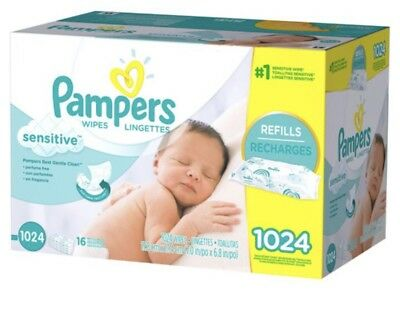 Pampers Sensitive Baby Wipes 1024 count Perfume Thicker 80268047