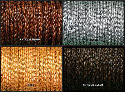 8 Ply 4Mm High Quality Braided 1Oo% Real Leather Wristband Strap Cord Thong Bolo