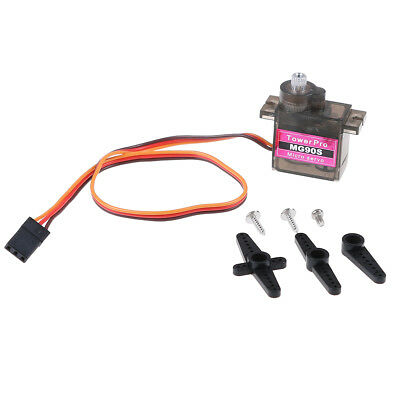 1pcs MG90S micro metal gear 9g servo for RC plane helicopter boat car 4.8V 6V _7