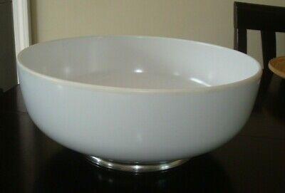 """Towle Sterling-Mounted Melamine Bowl White 11 1/4"""" wide x 4 3/4"""" high"""