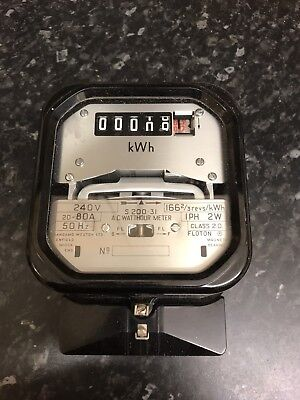 QUITE RARE NOW- HOUSE LANDLORD kWh Electric Meter Usage Old style Single Phase