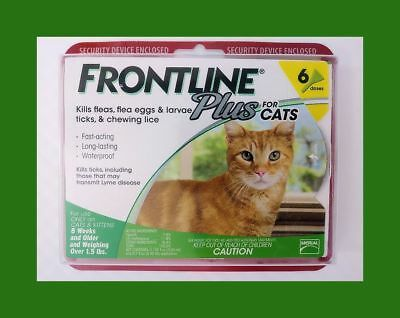 Frontline Plus For Cats 8 Weeks or Older - 6 Month Supply, EPA Certified - USA