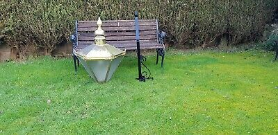 Very large brass Victorian style wall lamp/light/lantern house outdoor garden